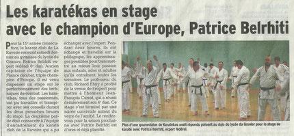 Stage Patrice Belrhiti du 22-03-2014