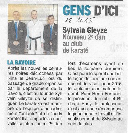 Sylvain 2éme Dan le 20-12-2015