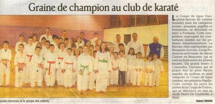 Article dans le Dauphiné Février 2009