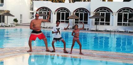 Famille KADEM en shuto à Hammamet TUNISIE !!!! Amine, Lounis,Sarah
