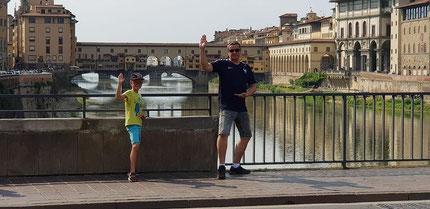 David et Martin à Florence en  Italie !