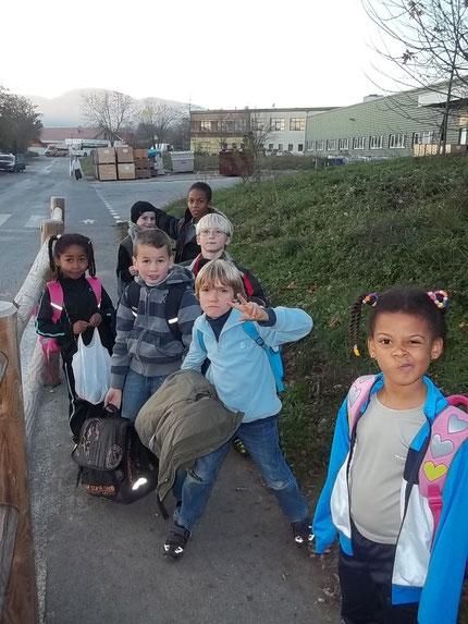 les enfants pris en charge à la sortie de l'école pour se rendre directement à la salle d'entrainement