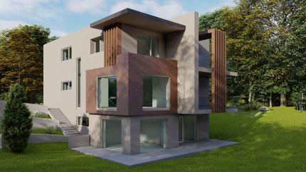 Exklusives Einfamilienhaus mit attraktiven Holzlamellen