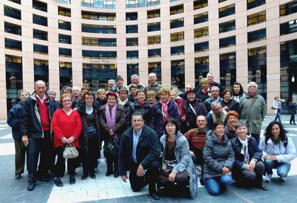 Au Parlemenr Européen de Strasbourg photo M L