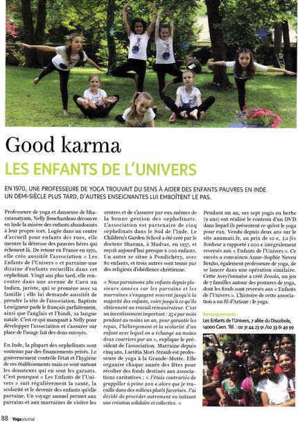 """Petites yoginis dans """"Yoga Journal France"""" déc 2016!"""