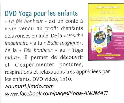 """""""La Fée Bonheur"""" dans le """"Journal du Yoga"""" nov 2014"""