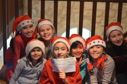"""Déc 2014 - 5ème chèque de 670 euros pour """"Enfants de l'Univers""""!"""