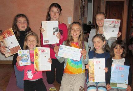 """Nov 2014 - 4ème chèque de 570 euros pour """"Enfants de l'univers"""" !!"""