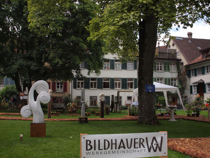 Skulpturengarten/ Steinskulpturen/ Bildhauer ausstellung/