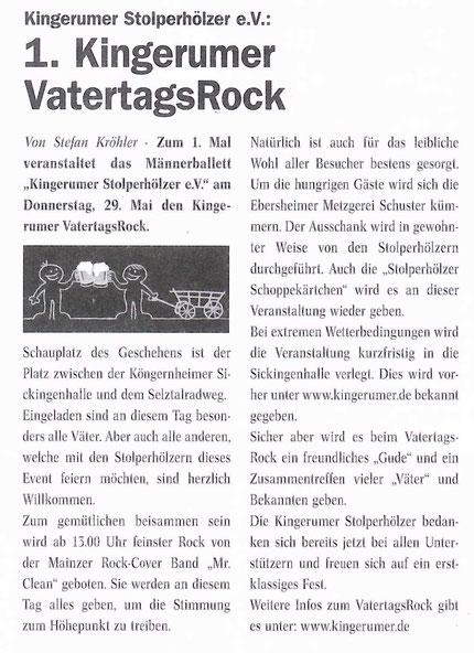 Ortsanzeiger 17.05.2014