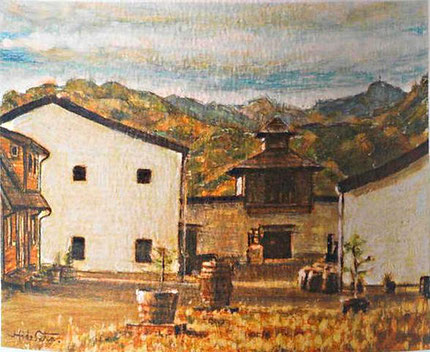 Chichibu Distillery as painting