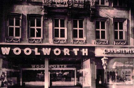 Eingänge Woolworth und Carl Niemer 1962