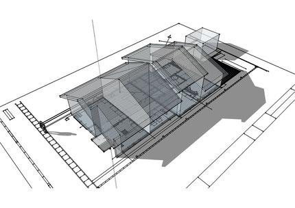 3D透視図での計画モデル(俯瞰図)