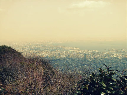 摩耶山頂から大阪方面
