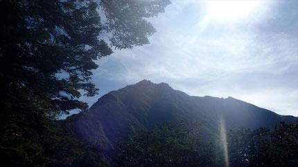 空木岳が見えてきた  カッコいいな~
