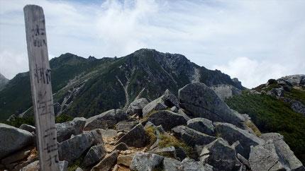 赤梛岳から南駒ヶ岳。