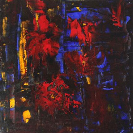"""""""Rot Gelb Blau Komposition"""", Acryl auf Leinwand, 60x60 cm"""