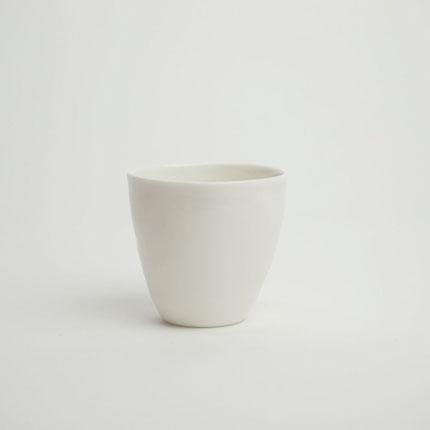 Kajsa Cramer handmade espresso cup white