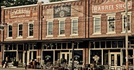 Jack Daniels Shop und Destillerie in Lynchburg Tennessie