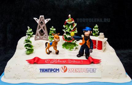 Торт Энергетикам Новогодний