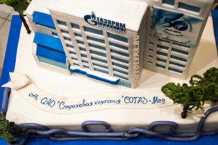 Торт Газпром Трансгаз.   Вес 11 кг. Съедобно всё, включая карамельные деревья.