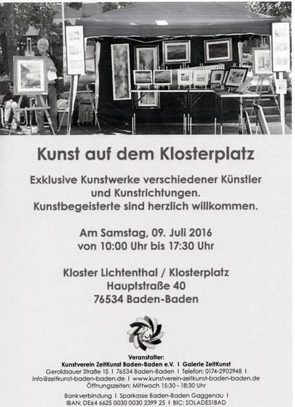 Kunstmarkt auf dem Klosterplatz Kloster Lichtenthal, Baden-Baden