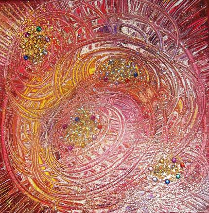 Universum : 20x20cm Acryl