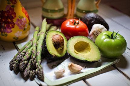 gemüse, avocado, vegan, frisch, spargel, vitamine, zutaten