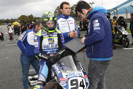 Marvin Siebdrath vor dem 1. Start im European Talent Cup in Estoril
