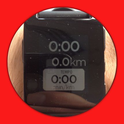 And this is how the Runtastic watchface looks on your Pebble smartwatch.