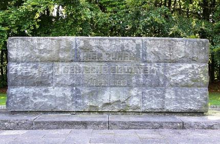 Hier ruhen deutsche Soldaten 1939 - 1945