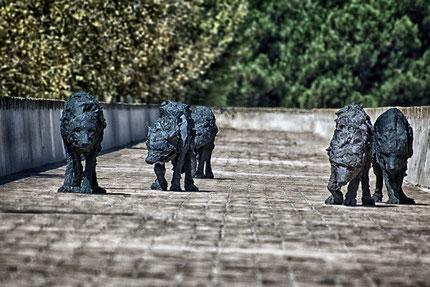 Bronze, Urbani, sculpture, Antibes, loup, Mateo Brigande, La galerie de Mateo, bronze, buste, cariatide, marbre, statuette, boiserie, moulure, ornement, figurine,