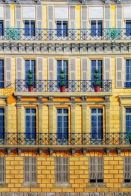 Mateo Brigande,La galerie de Mateo, Architecture, urbanisme, maison, bâtiment, immeuble, façade, peinture murale, balcon, Nice