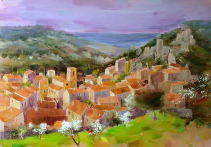 SAINT-MONTAN (huile sur toile) 81 x 116 cm JF.Millan-collection privée USA