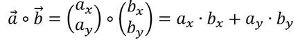 Formel für das Skalarprodukt bei 2D Vektoren