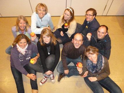 Die Kloppenheimer Kulturäpfel in der Konstellation für die Spielzeit 2013