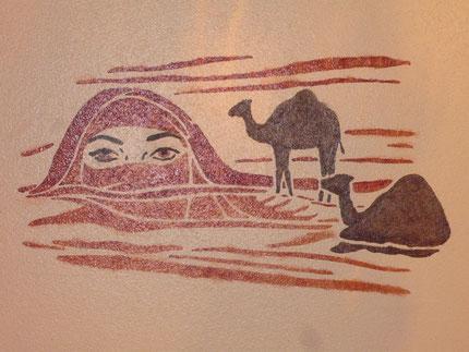Pochoir sur mur, par Sabrina A., danseuse
