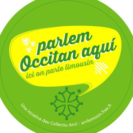 Prepausicion de japisson per la campanha Parlem Occitan Aquí, per metre en avant lo comerci ente se pòt parlar occitan.