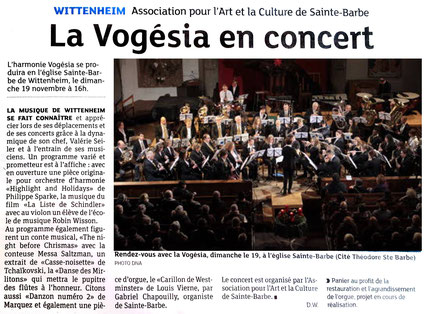 "Concert Vogesia conte musical ""NIGHT BEFORE CHRISTMAS"""