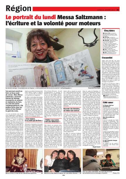 1 page entière  dans l'Alsace,  Merci Magaly Claudel