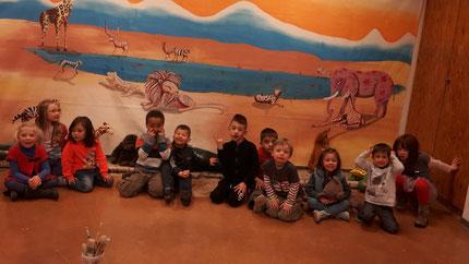 Les enfants du CSC Thann sont venus aussi et on créé aussi