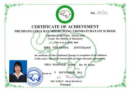 Banburi-Thaimassage Nürnberg Zertifikat IV