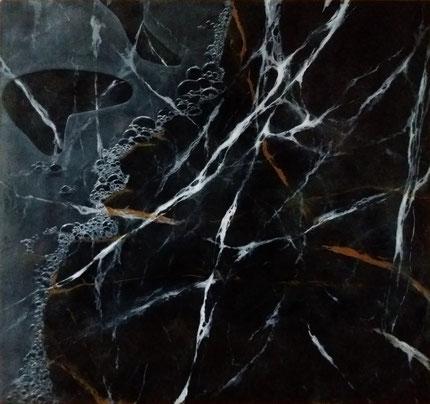 Schilderij acryl, marmer