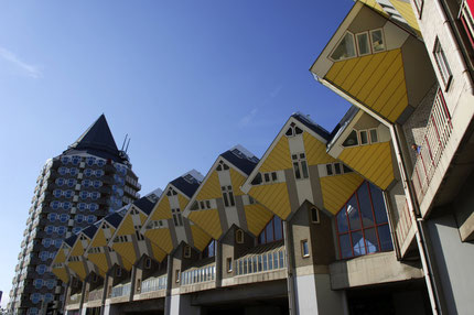 Cube houses in Rotterdam, Netherlands - Copyright Rotterdam.info