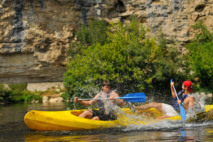 Waters activities in Dordogne