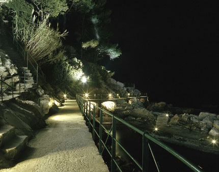The promenade in Zoagli