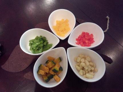 色とりどりの野菜は自然の優しい甘み