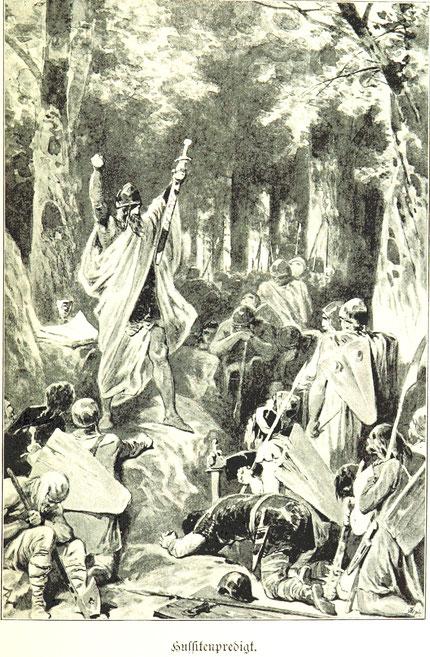 Symbolbild einer Hussitenpredigt