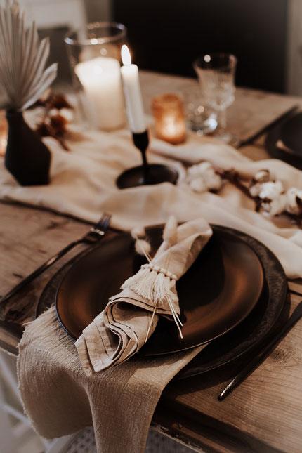 Boho Hochzeit Stoffservietten Verleih