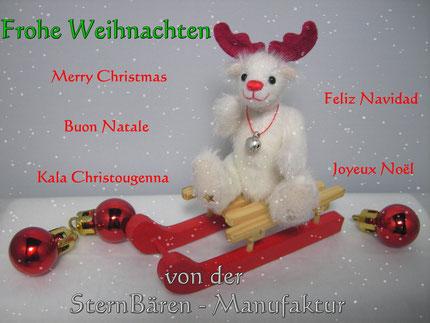 online konnte man aus vielen Bären, den schönsten Weihnachtsbär aussuchen. Mein Rudolph wurde es.....